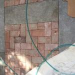 The courtyard hardscape pattern